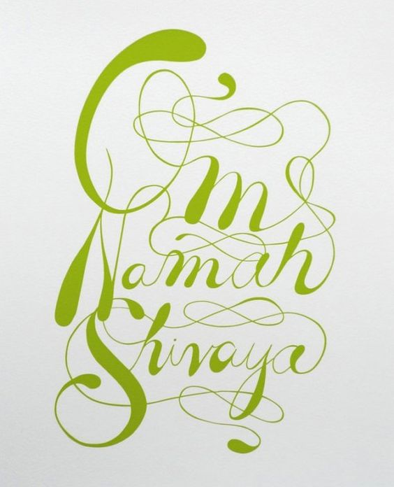 Om Namah Shivaya (written)