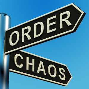 Direction sign to either Order or Chaos in your life